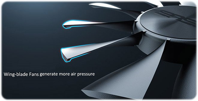 ASUS Patented Wing-blade Fans