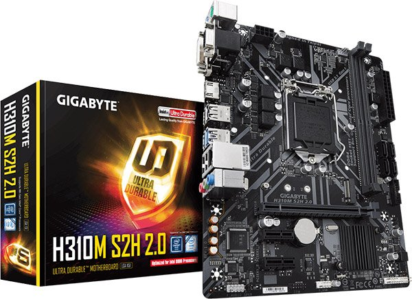 Gigabyte H310M S2H 2.0 (rev.1.0) 9th and 8th Generation LGA1151 MAINBOARD